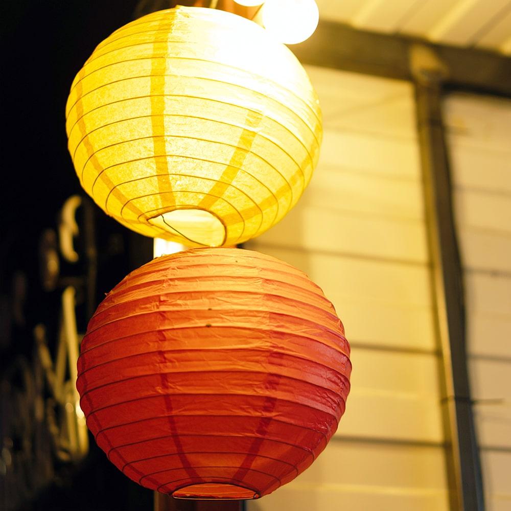 Image of LED Lanterns Hung Up Outside