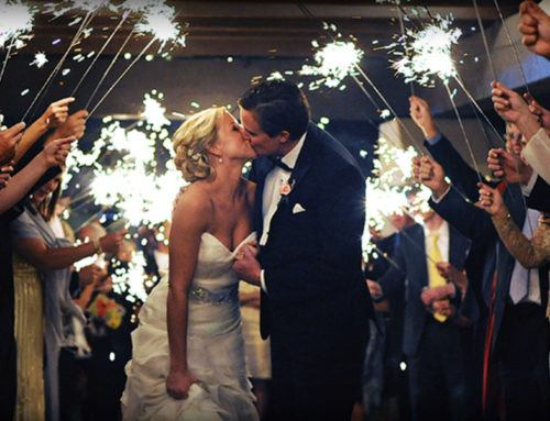 A Guide to Using Sparklers Indoors at a Wedding