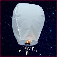 White Shooting Star Lanterns