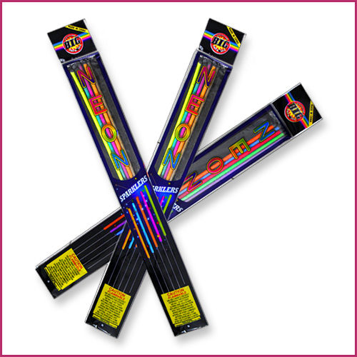 Image of 18 Inch Neon Colored Sparklers for Weddings image
