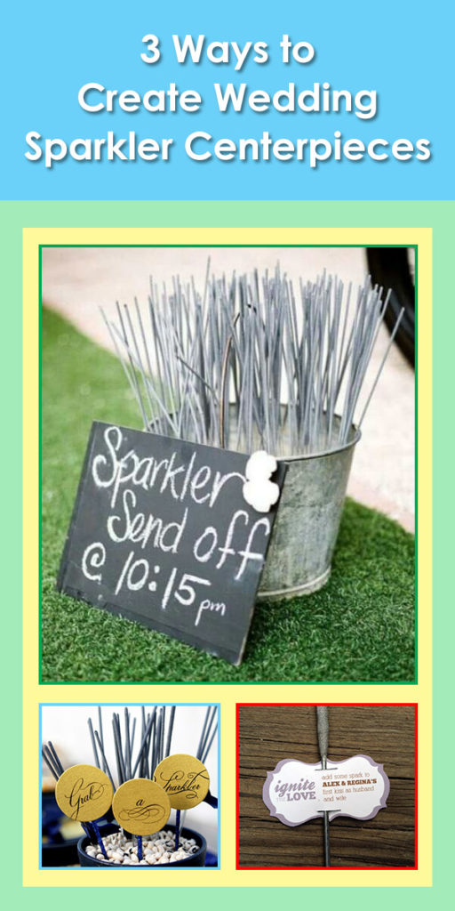 3 Ways to Create Wedding Sparkler Centerpieces image