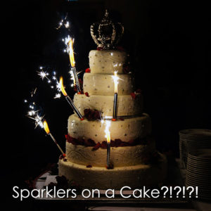 Quiet Fireworks: Sparklers on a Cake image