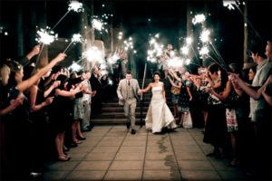 36 Inch Sparklers at a Wedding image