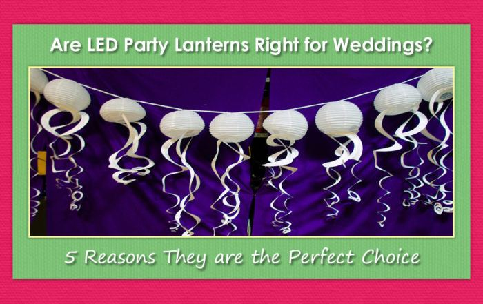 LED Party Lanterns for Weddings image