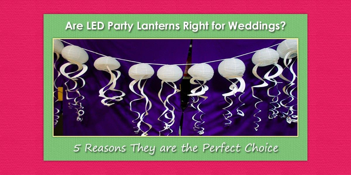 LED Party Lanterns for Weddings image