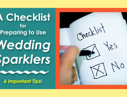 Preparing to Use Wedding Sparklers: A Checklist