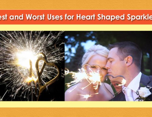 Best Uses for Heart Shaped Sparklers at a Wedding