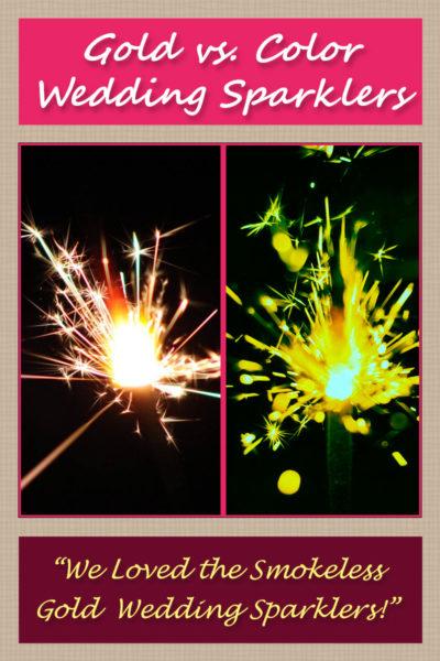 Gold vs. Color Wedding Sparklers image