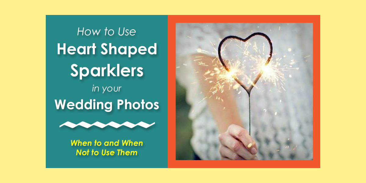 Using Heart Shaped Sparklers in Wedding Photos image