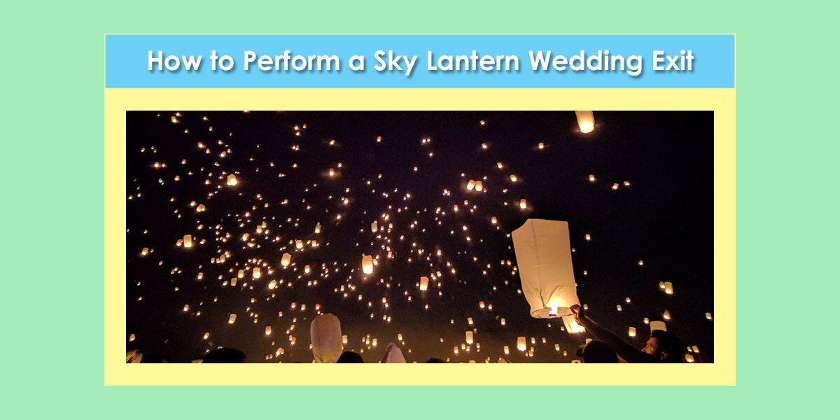 Performing a Sky Lantern Wedding Exit image