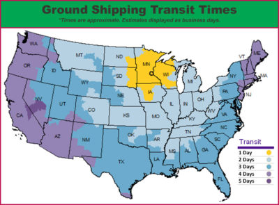 Ground Transit Times image