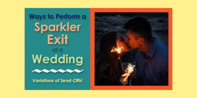 Ways to Perform a Sparkler Exit at a Wedding image