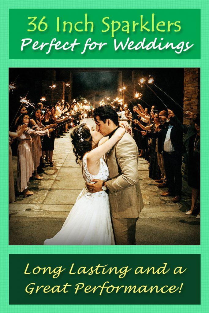 Image of 36 Inch Sparklers Used Duaring a Wedding Exit