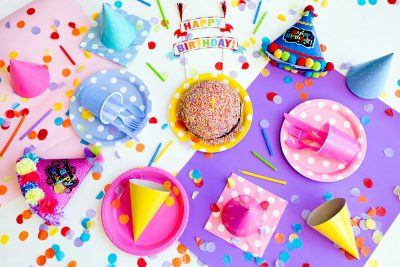 Image of Birthday Party Decorations on a Table