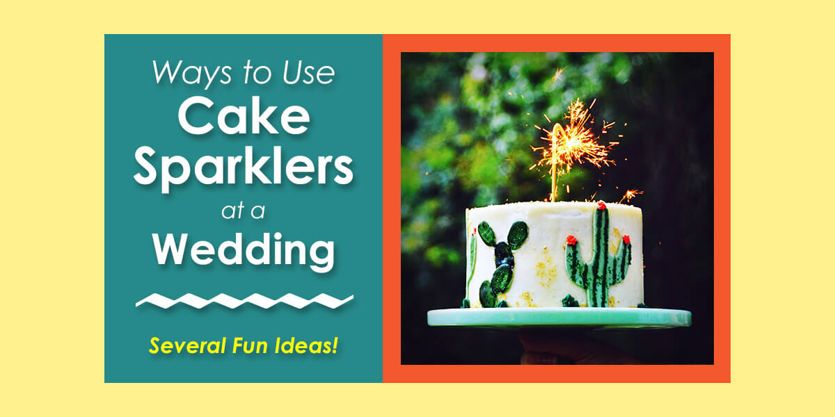 4 Ways to Use Cake Sparklers at a Wedding image