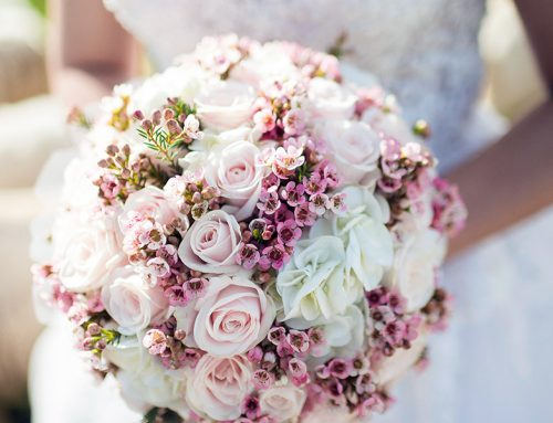 Using Wooden Roses for a Bridal Bouquet