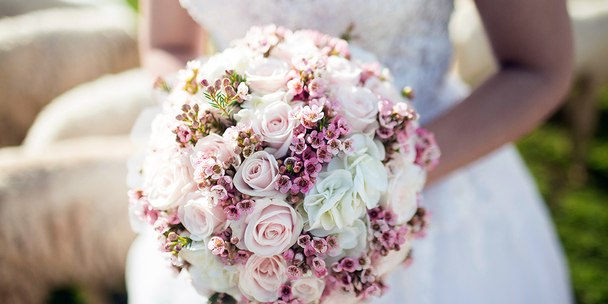 Using Wooden Roses for a Bridal Bouquet image
