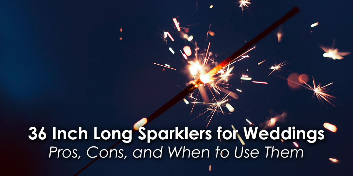 36 Inch Long Sparklers for Weddings image