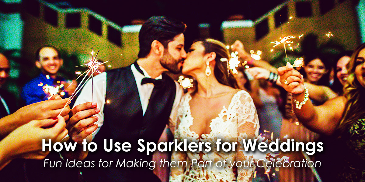 How to Use Sparklers for Weddings image