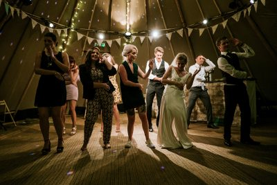 Image of People Dancing at an Intimate Wedding