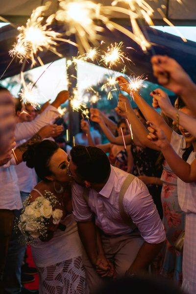 Image of Large Wedding Sparklers Creating Big Effects