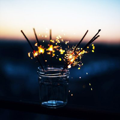 Image of Sparklers in a Centerpiece Jar