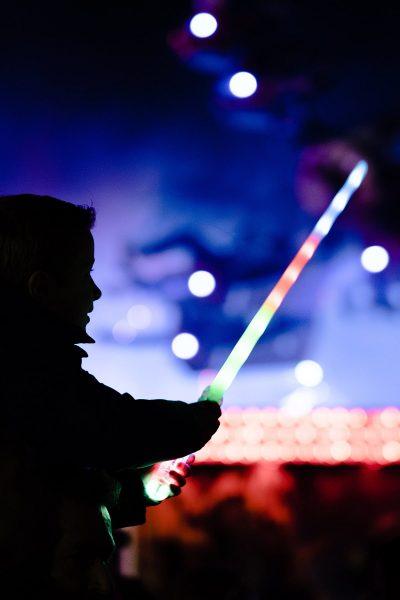 Image of a Child Holding an LED Wedding Sparkler