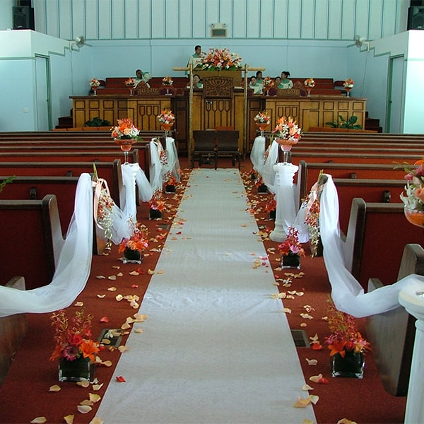 Image of a Runner for a Wedding Aisle Used as a Decoration