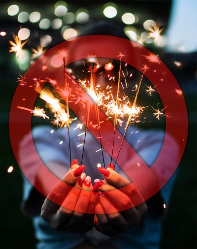 Image Depicting a Wedding Venue Restricting the Use of Sparklers