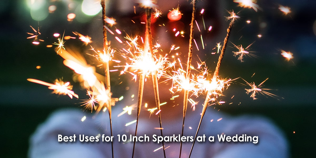 Best Uses for 10 Inch Sparklers at a Wedding image