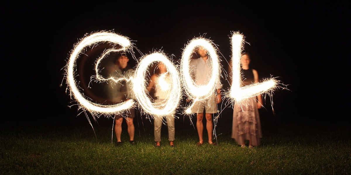 Image of People Writing With Sparklers in the Air