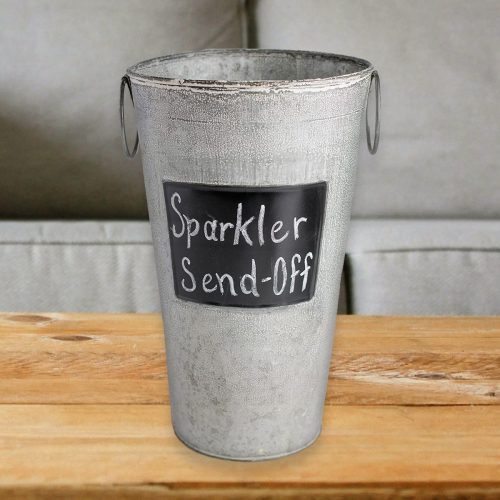 "Image of an 11"" Chalkboard Sparkler Display Bucket"