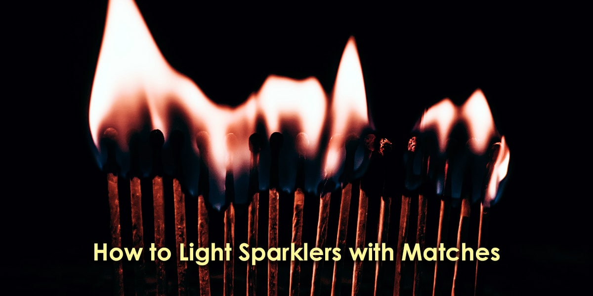How to Light Sparklers with Matches image