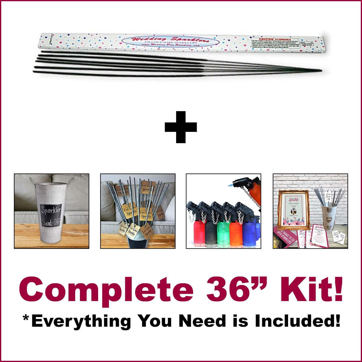 Image of Our Complete 36 Inch Sparkler Kits