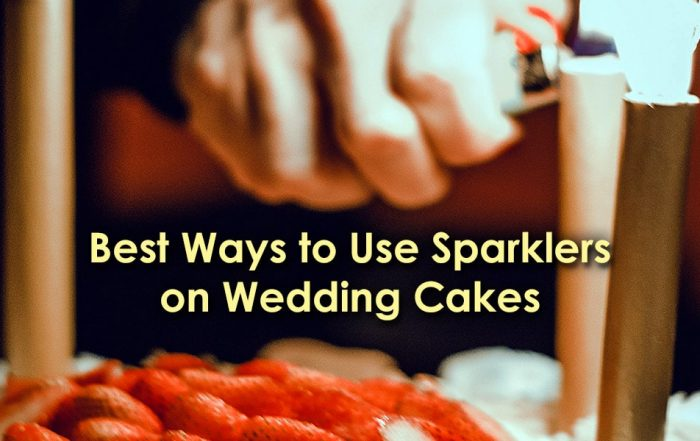 Image of the Best Ways to Use Sparklers on Wedding Cakes