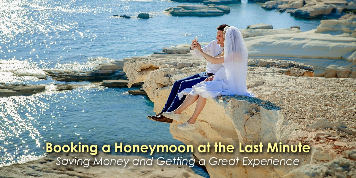 IMage of a Couple Booking a Honeymoon at the Last Minute