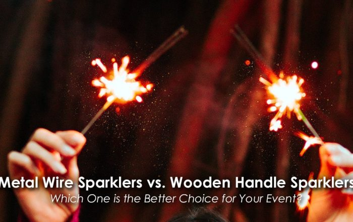 Image of Metal Wire Sparklers vs. Wooden Handle Sparklers