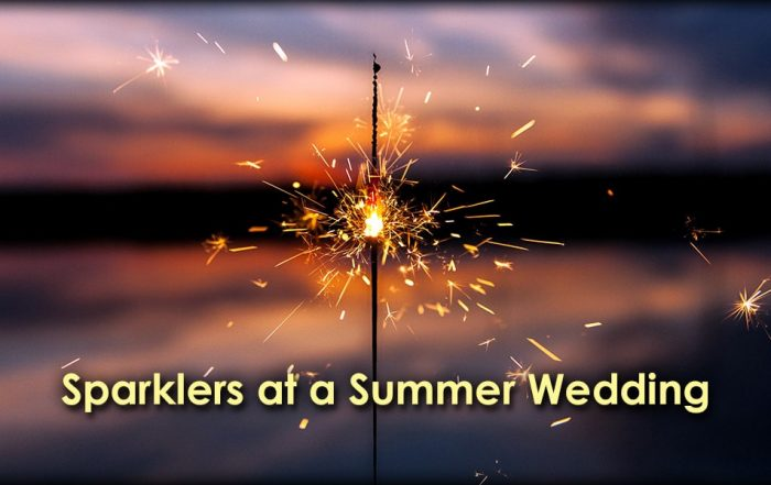 IMage of Sparklers at a Summer Wedding at Sunset