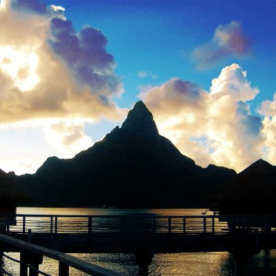 Image of a Sunset View in Tahiti