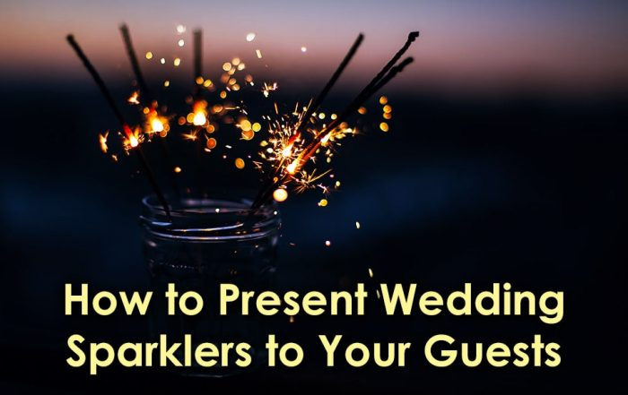 Image of Present Wedding Sparklers to Your Guests