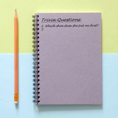 Image of a List of Trivia Questions for a Bridal Shower