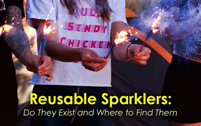 Image of Girls Using Reusable Sparklers