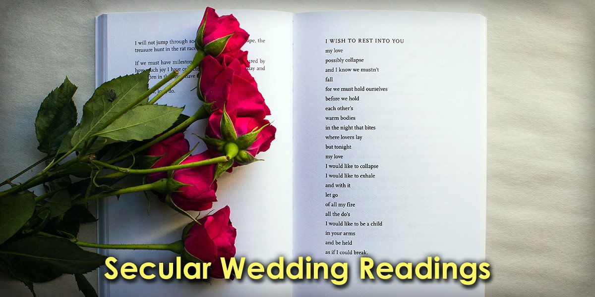 Image of Secular Wedding Readings in a Book