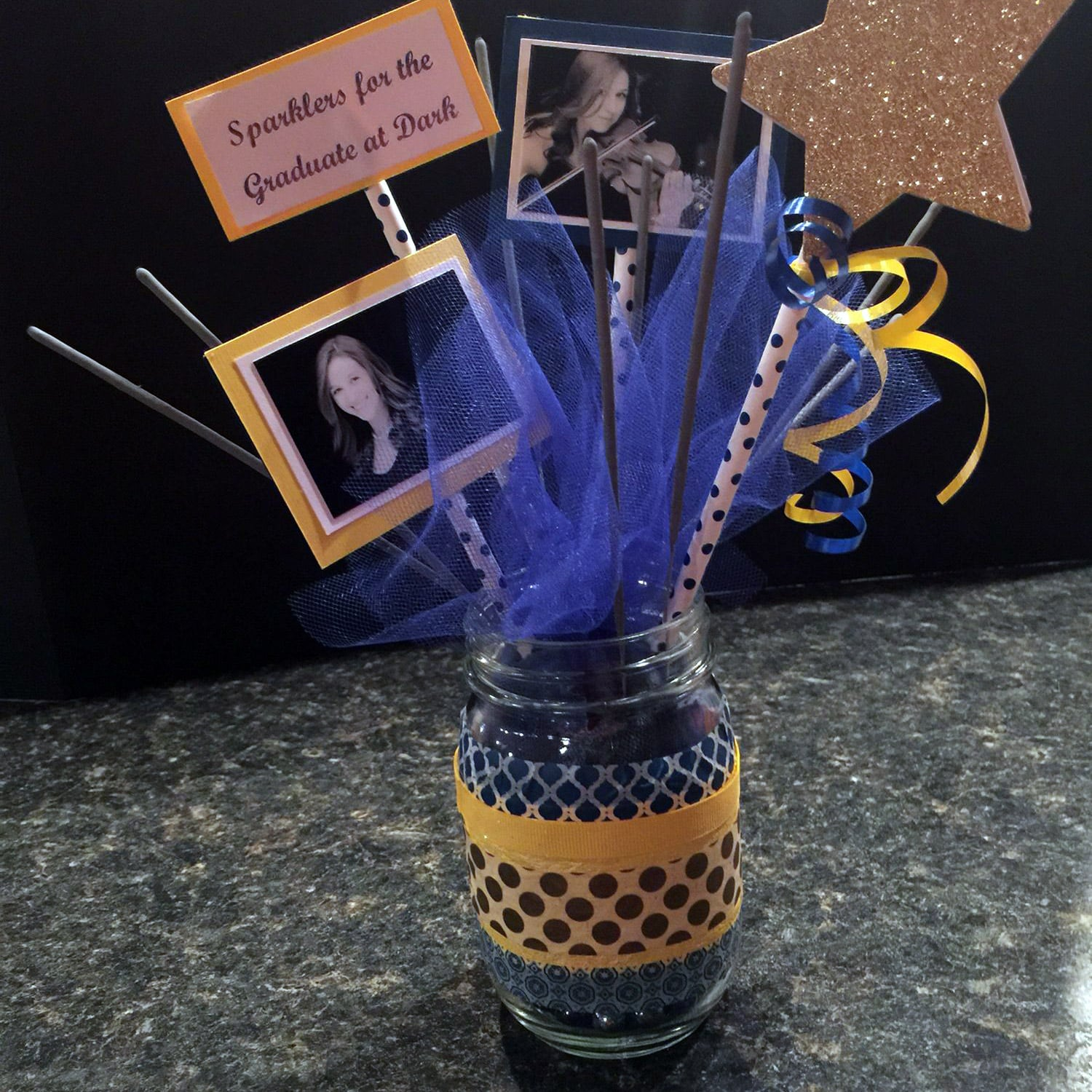 Image of a Sparkler Centerpiece for a Graduation Party