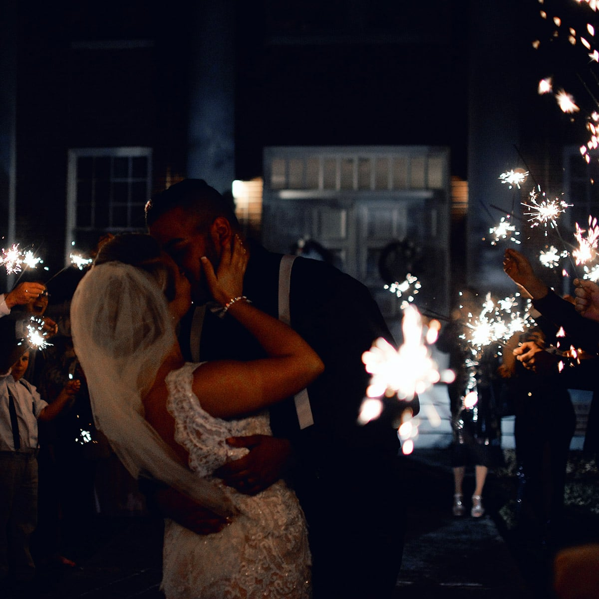 Image of Sparklers at a Wedding in California