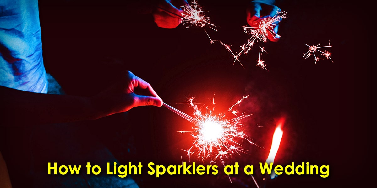 How to Light Sparklers at a Wedding image