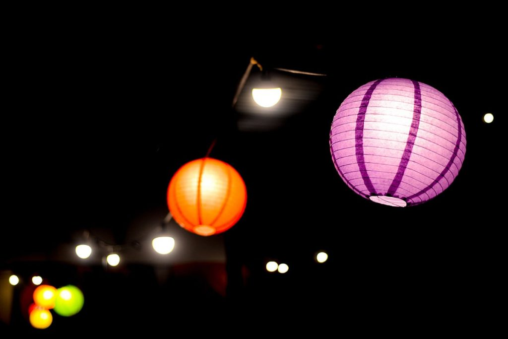 Image of LED Party Lanterns in the Night