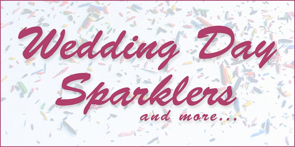 Large Wedding Day Sparklers Logo