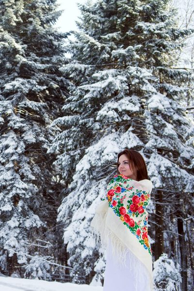 Photo of a Bride in the Winter