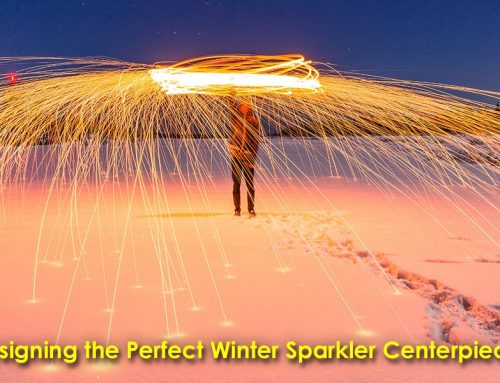 Designing the Perfect Winter Sparkler Centerpieces